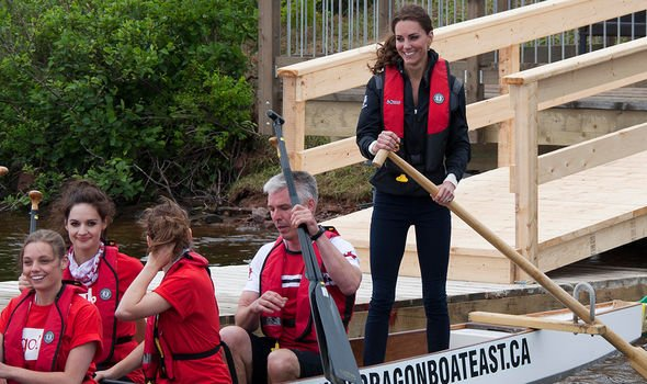 Kate previously lost to William during a dragon boat race in Canada Image GETTY