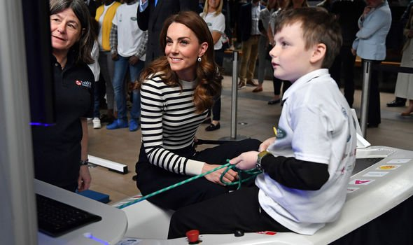 Kate visited Cutty Sark in May Image GETTY