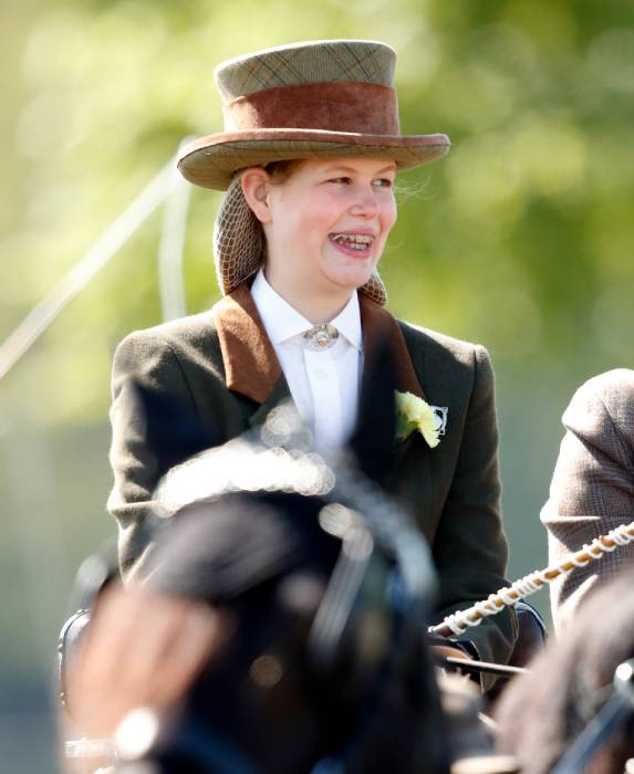 Lady Louise Windsor was pictured horse riding in Balmoral Photo C GETTY IMAGES