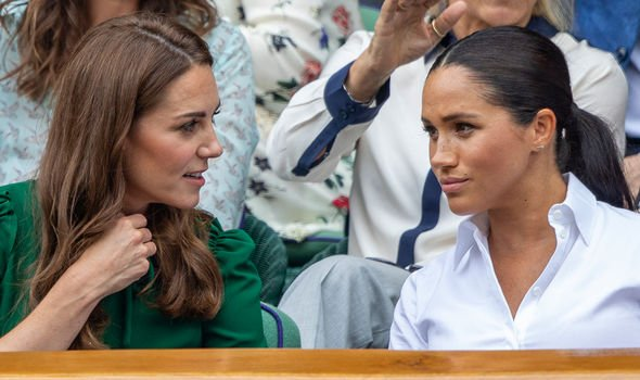 Meghan Markle and Kate the Duchess of Cambridge at Wimbledon Image GETTY