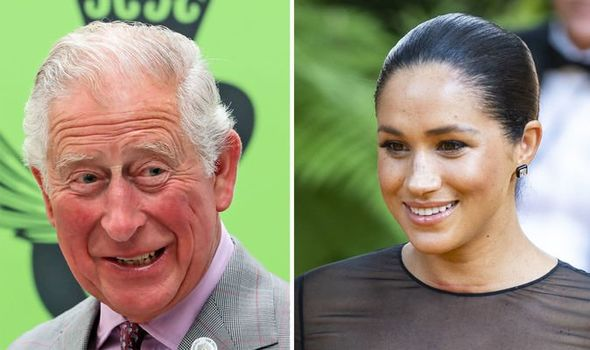 Meghan Markle and Prince Charles broke the ice Image GETTY