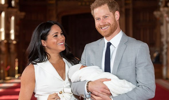 Meghan Markle and Prince Harry broke the tradition of a photocall on the steps of the hospital Image GETTY