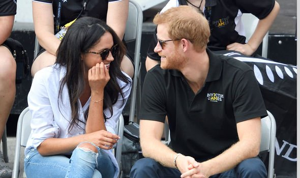 Meghan Markle and Prince Harry pictured in the early days of their relationship Image Getty