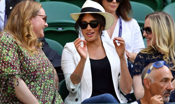 Meghan Markle at Wimbledon this year Image GETTY