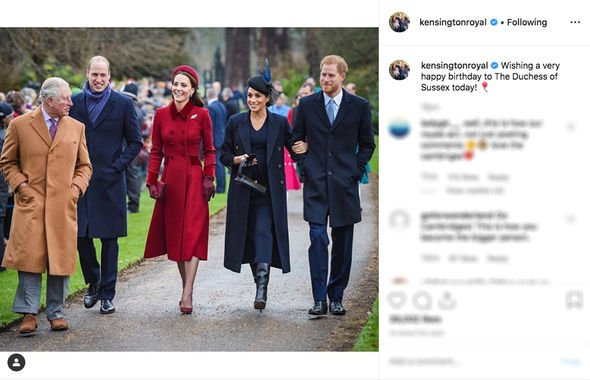 Meghan Markle birthday The Cambridges added this touching tribute for Meghans birthday Image INSTAGRAM
