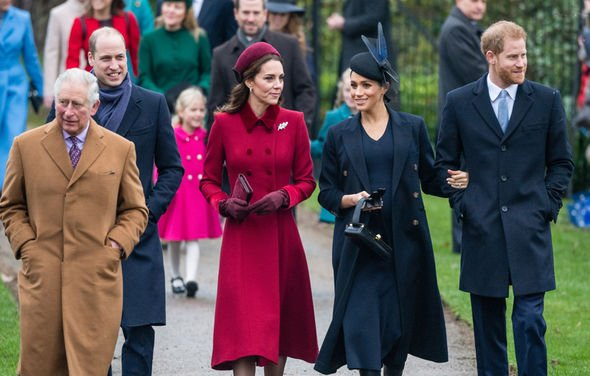 Meghan Markle birthday The Royal Family were attending Christmas Mass when the photo was taken Image GETTY