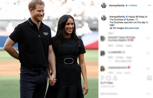 Meghan Markle birthday The adorable message from the Queen and Prince Philip Image INSTAGRAM