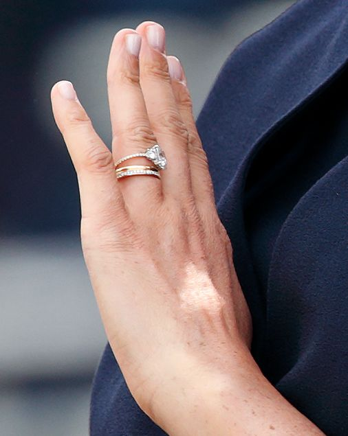 Meghan Markle came under fire in April for redesigning her engagement ring Photo Getty Images