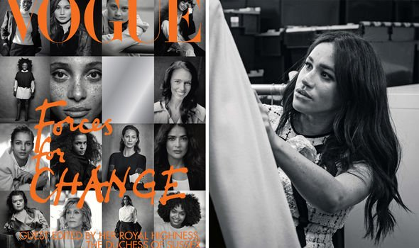 Meghan Markle guest edited the Septemeber issue of British Vogue Image GETTY