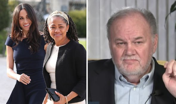 Meghan Markle her mother Doria Ragland and her father Thomas Markle Image GETTY