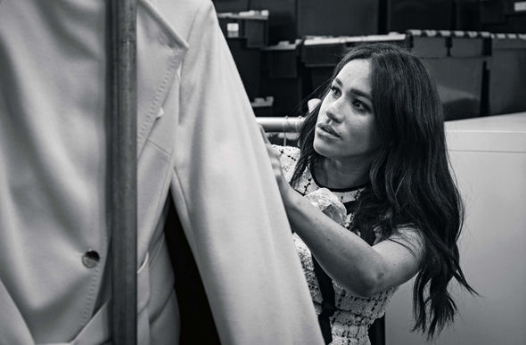 Meghan Markle is the guest editor for British Vogues September issue Image GETTY