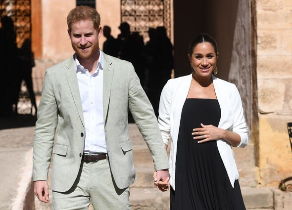 Meghan Markle was pregnant during her trip to Morocco earlier this year Image GETTY