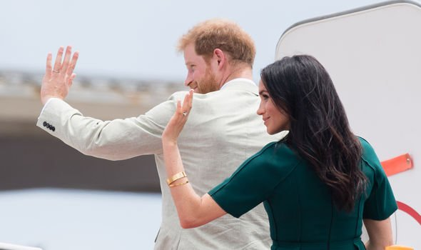 Meghan and Harry took four private jets in days Image GETTY