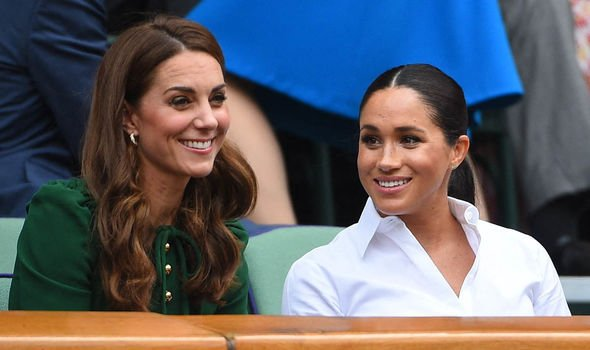 Meghan and Kate were pictured recently together as they attended Wimbledon together Image PA