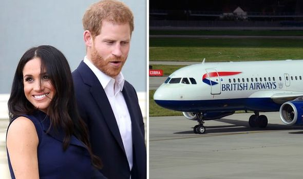 Meghan and Prince Harry flew economy class to Nice last year Image GETTY