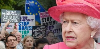 Momentum has called for protests against the Queen over the decision to suspend Parliament Image GETTY