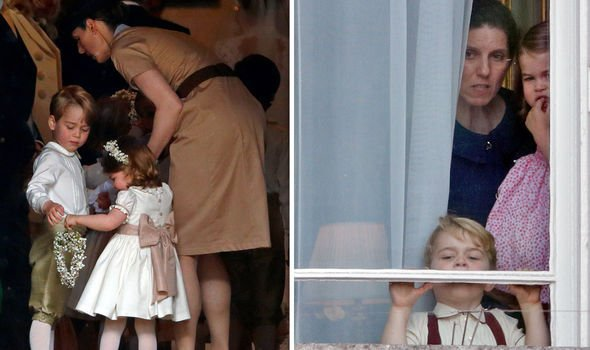 Nanny Maria is already helping George and Charlotte with their Spanish Image Getty