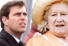Prince Andrew and the Queen Mother Image GETTY