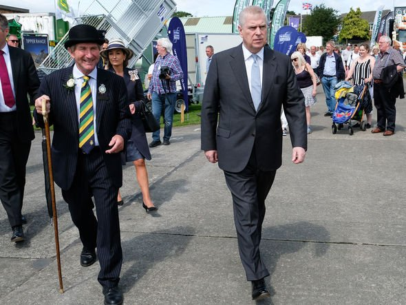 Prince Andrew in Harrogate for the Great Yorkshire Show in July Image GETTY