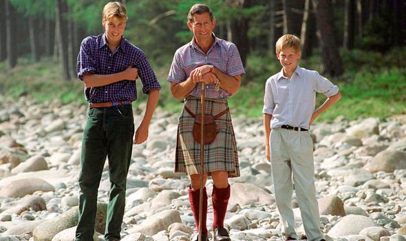 Prince Charles Prince WIlliam and Prince Harry pictured at Balmoral Image Getty