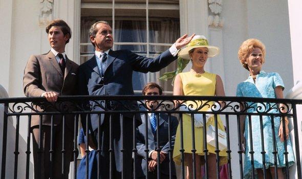 Prince Charles Richard Nixon Princes Anne Pat Nixon – Image GETTY