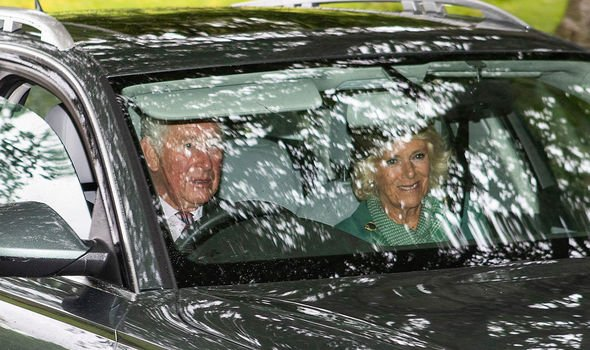 Prince Charles and the Duchess of Cornwall are also on their way to church Image PA