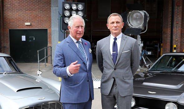 Prince Charles met Bond actor Daniel Craig on the set in June Image GETTY
