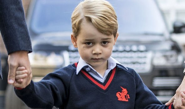 Prince George has been bowing to the Queen for around a year now Image GETTY