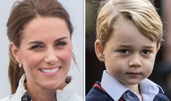 Prince George makes a naughty blunder when Kate isnt looking Image GETTY
