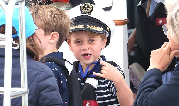 Prince George tried his first ant during the Kings Cup Regatta Bear Grylls revealed Image GETTY