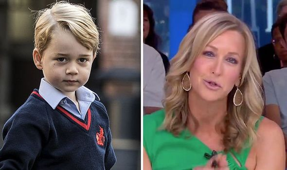 Prince George was attacked by US TV host Lara Spencer Image GMA•GETTY
