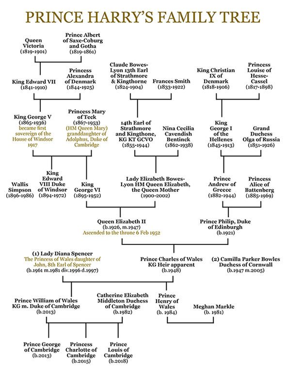 Prince Harrys family tree Image EXPRESS