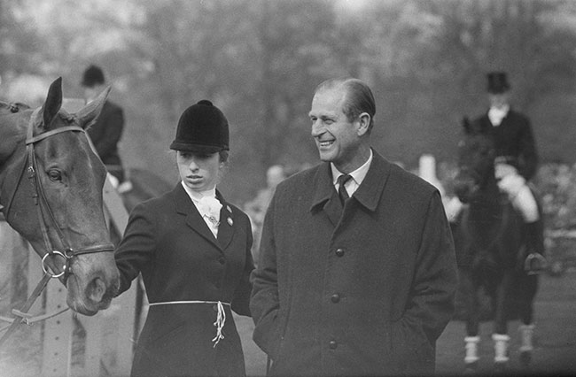 Prince Philip and his daughter share a love of sports Photo C GETTY IMAGES