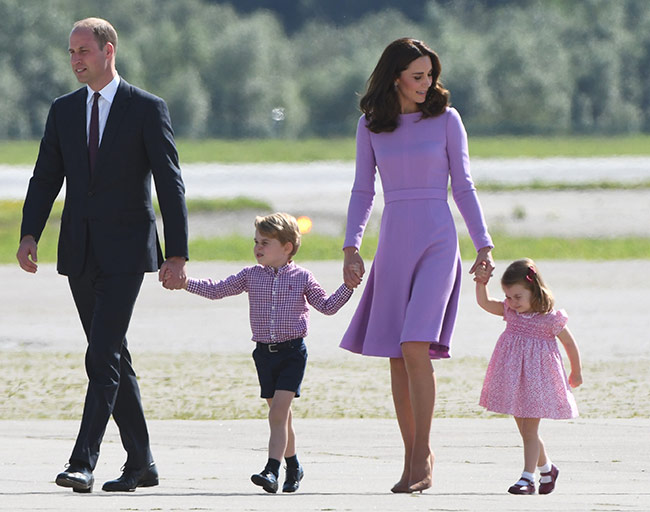 Prince William and Kate will accompany Princess Charlotte and Prince George Photo C GETTY IMAGES
