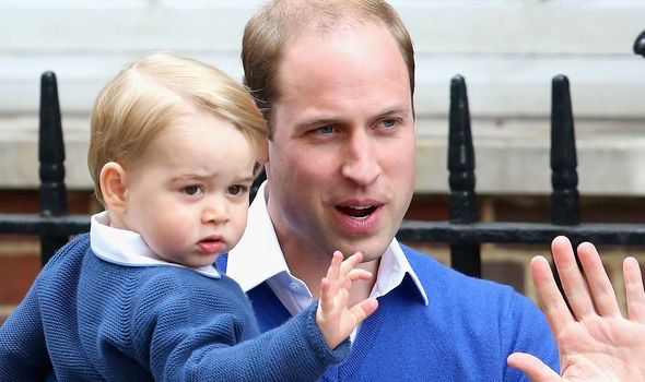 Prince William took George to see his new baby sister Princess Charlotte Image GETTY