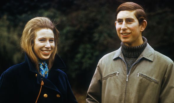 Princess Anne and Charles sharing a grin Image GETTY