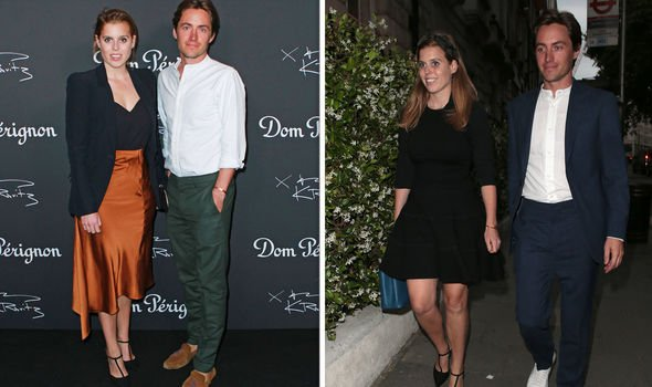 Princess Beatrice and Edoardo Mapelli Mozzi have been together for a number of months Image Getty