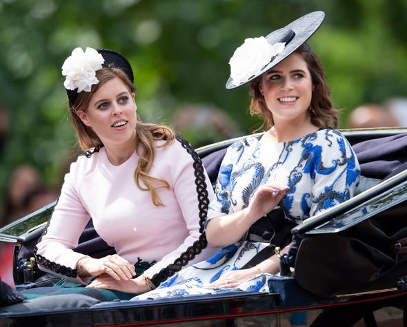 Princess Beatrice and Princess Eugenie at Trooping the Colour in June Image GETTY