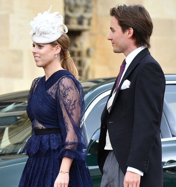 Princess Beatrice engaged Bea and Edo at the wedding of Lady Gabriella Windsor Image GETTY