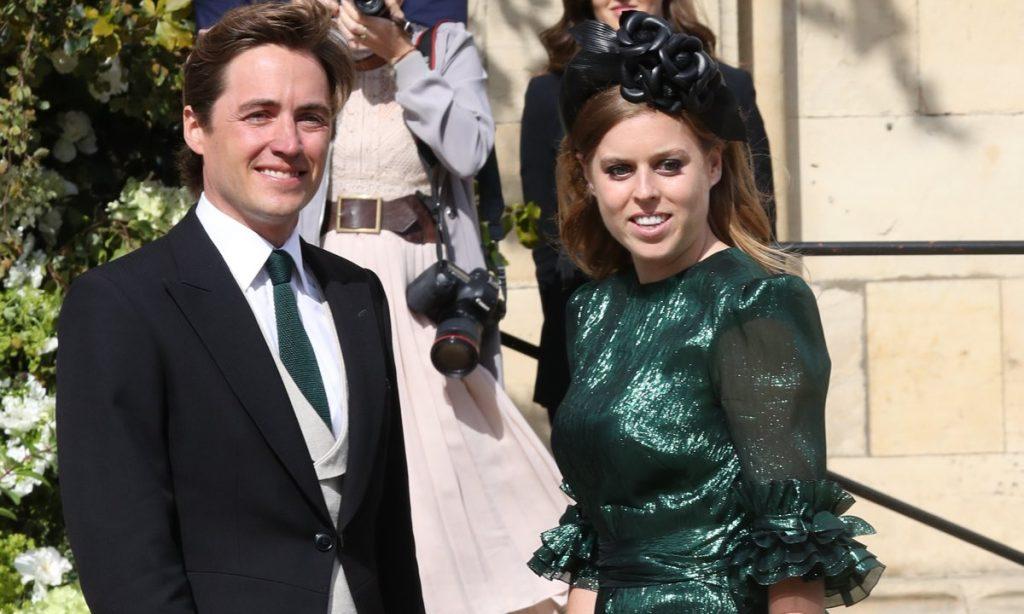 Princess Beatrice turns heads in green metallic dress at Ellie Goulding Caspar Joplings wedding Photo C GETTY IMAGES