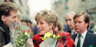 Princess Diana C and her royal bodyguard Ken Wharfe R Image GETTY