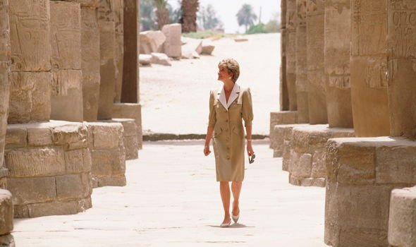 Princess Diana confessed her distressed state of mind to her bodyguard while in Egypt Image GETTY