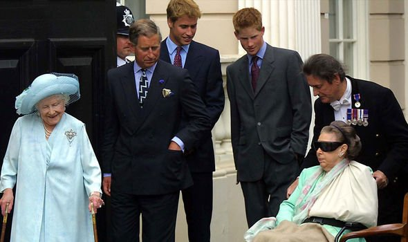 Princess Margaret with members the Royal Family towards the end of her life Image Getty