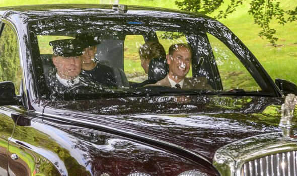 Queen attending church with other members of the royal family near Balmoral Image PA