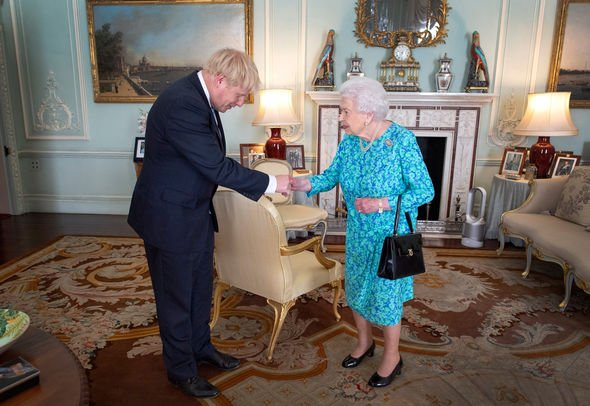 Queen snub It is what is in the background of this photo which has people talking Image GETTY