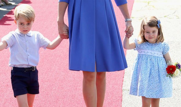 Royal etiquette will see Archie also bow to Prince George Princess Charlotte and Prince Louis Image GETTY