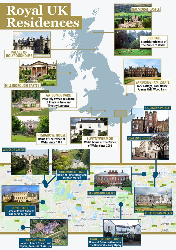 Royal residences mapped Who lives where Image EXPRESS