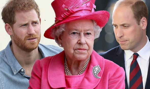 Royal shock Queen Elizabeth II could have caused rift between William and Harry Image GETTY