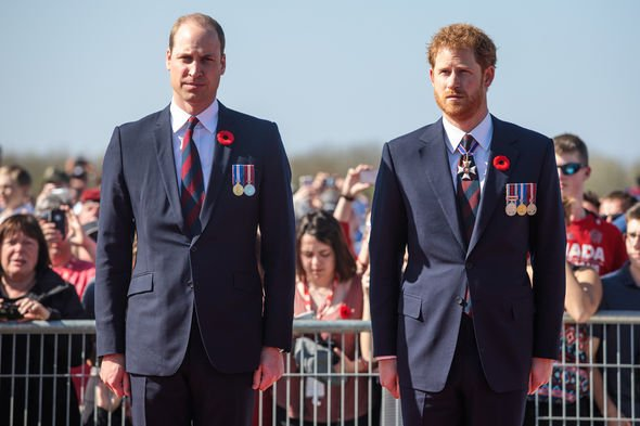 Royal shock William and Harry have split from their common path Image GETTY