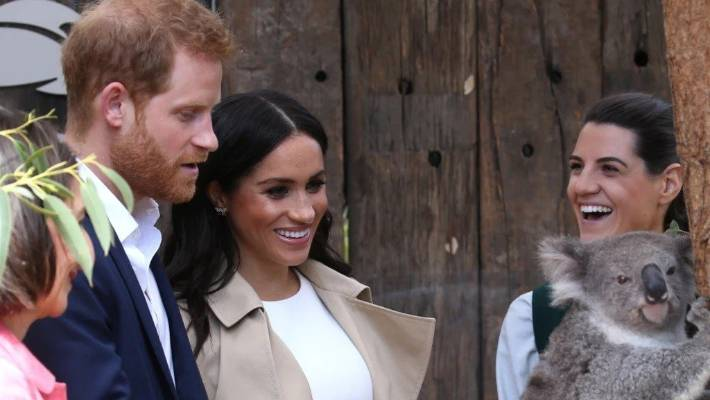 SYDNEY MORNING HERALDThe Duke and Duchess of Sussex getting up close with a koala during their tour of Australia